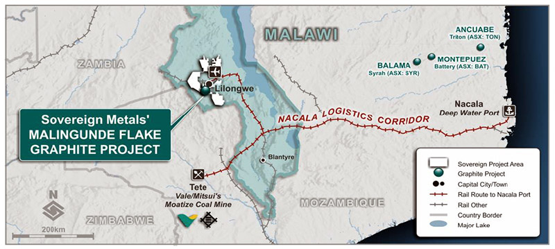 Sovereign Metals sign MoU with Nacala Railway Club of Mozambique